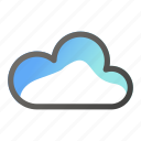 cloud, data, network, weather icon