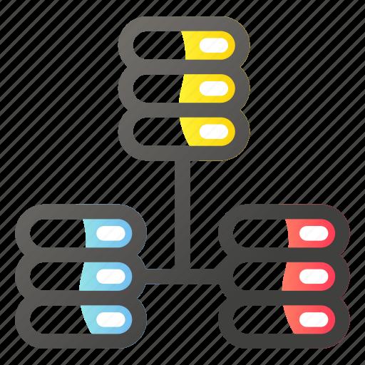 data, network, protocol, server, storage icon
