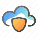 cloud, computing, data, network, protection, shield