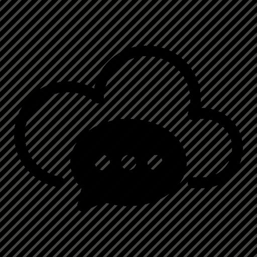 Cloud, computing, data, internet, message, network, server icon - Download on Iconfinder