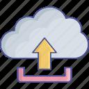 cloud storage, cloud uploading, cloud computing, data transmit icon