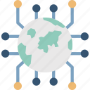 global network diagram, global network, cyberspace, global connections icon