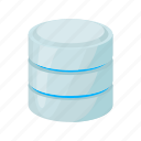 blog, cartoon, data, database, network, site, storage icon