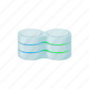 blog, cartoon, cell, data, database, site, storage icon