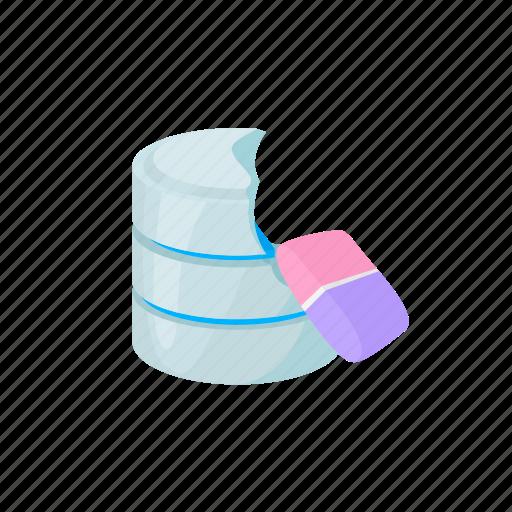 blog, cartoon, data, database, loss, site, storage icon