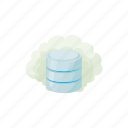 blog, cartoon, cloud, computing, database, internet, site icon