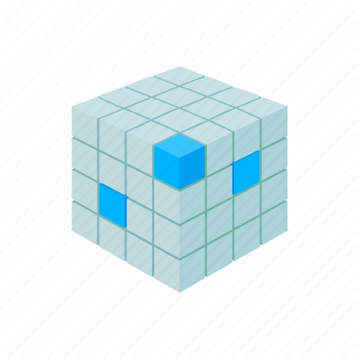 blog, cartoon, construction, cube, database, site, technology icon
