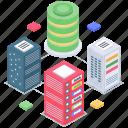 data server, data storage, databank, database hosting, datacenter, datacenter infrastructure, datacenter processor icon