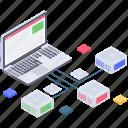 database connection, database hosting network, database network, datacenter network, network storage icon