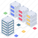big data, big data connection, data server hosting, database connection, database hosting icon