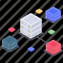 database connection, database hosting network, database network, datacenter network, server network icon