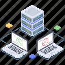 big data processing, database computing, database hosting, database storage, datacenter icon