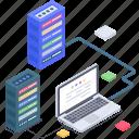 databank, database connection, database hosting network, database network, database technology icon
