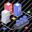 database computing, database hosting, database processing, database storage, datacenter icon