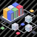 database hosting, database server, database storage, datacenter, hosting server icon