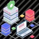 database protection, database security, safe datacenter, secure database, secure server icon