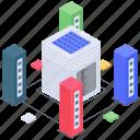 database hosting, database room, datacenter, home server, server client room, server room icon