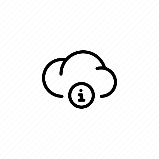 cloud, clouds, data, i, info, information, transfer icon