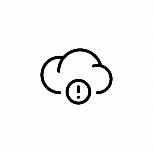 !, cloud, clouds, data, sync, transfer, warnning icon
