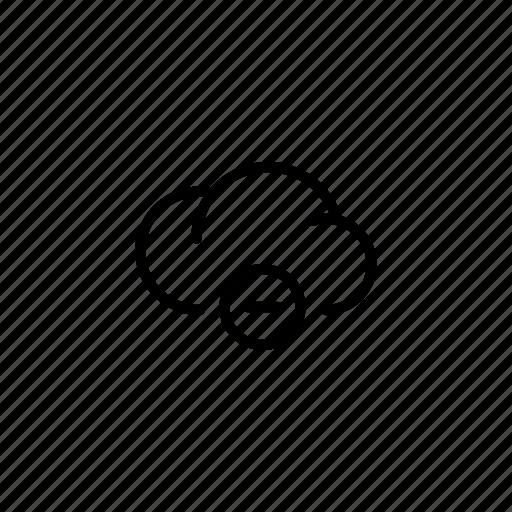 -, cloud, clouds, data, equation, mathematics, minus icon