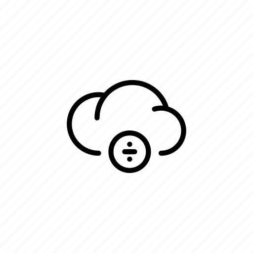 cloud, clouds, data, division, equation, mathematics, ÷ icon