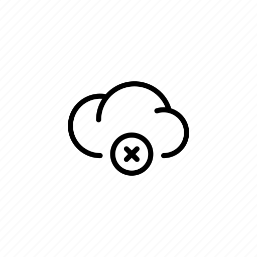 closed, cloud, clouds, data, increase, off, x icon