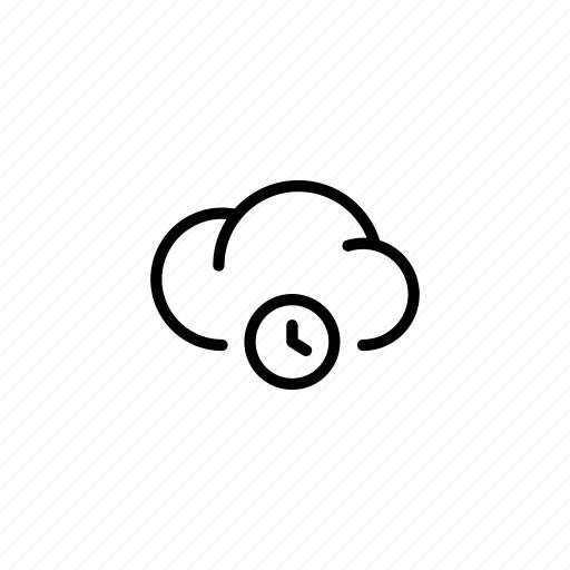 cloud, clouds, count, data, seconds, time, transfer icon