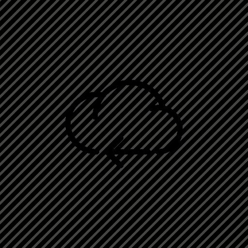 arrow, cloud, clouds, data, sync, transfer icon