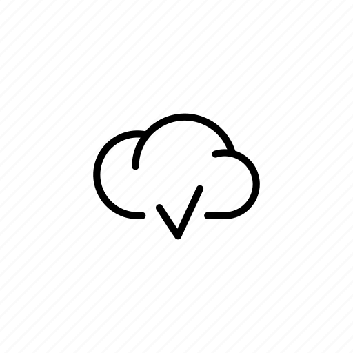 cloud, clouds, data, ok, sync, transfer, v icon