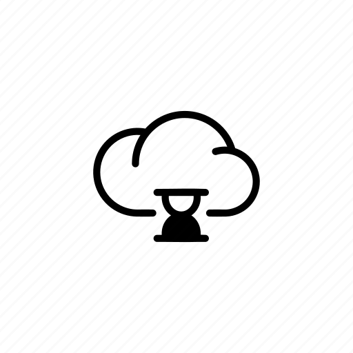 cloud, clouds, data, hourglass, sync, transfer icon