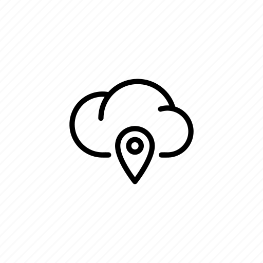cloud, clouds, data, location, pointer, sync, transfer icon