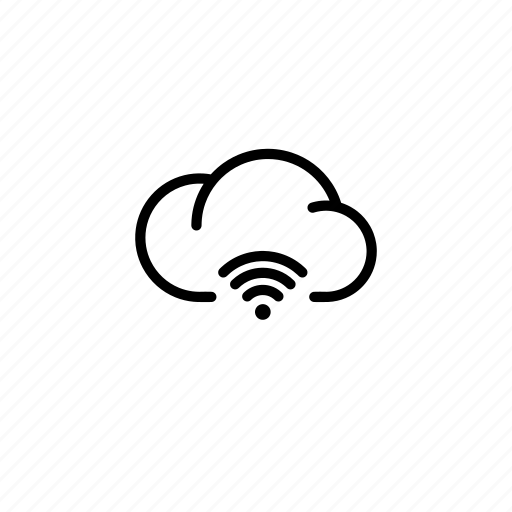 cloud, clouds, connected, data, internet, transfer, wifi icon