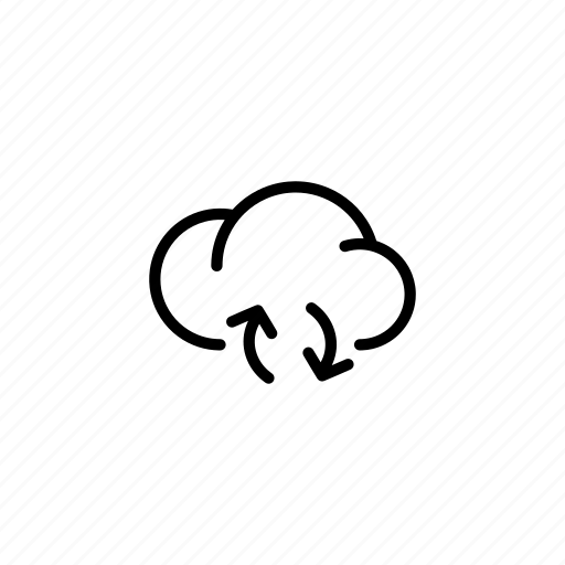 cloud, clouds, data, load, loading, sync, transfer icon