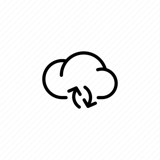 arrows, cloud, clouds, data, sync, transfer icon