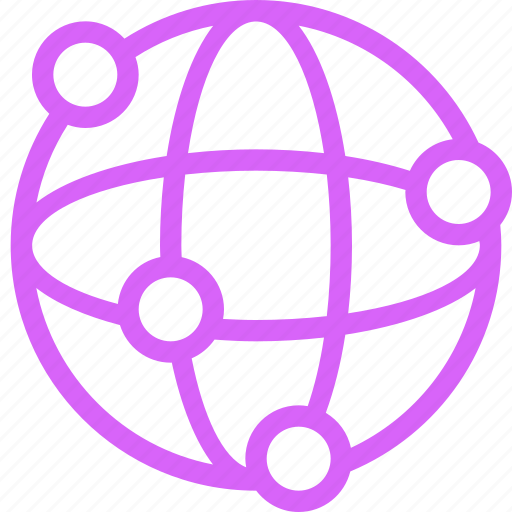 Connections, globe, international, links, network, purple, telecommunications icon - Download on Iconfinder