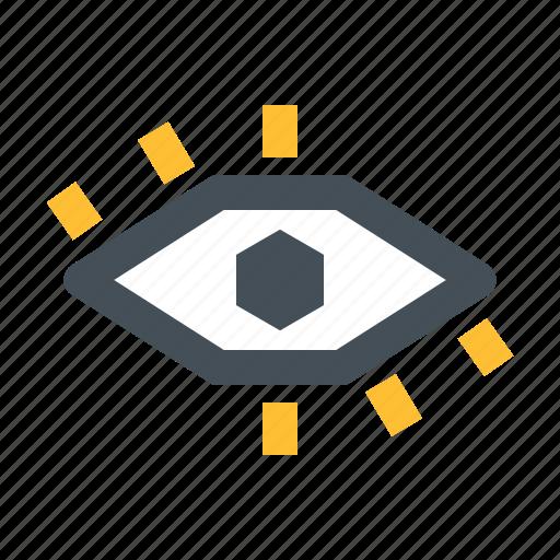 eye, hack, mitm, spy, view icon