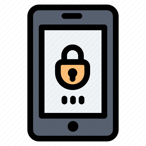 Encryption, lock, mobile, security icon - Download on Iconfinder