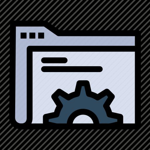 Data, folder, gear, server icon - Download on Iconfinder