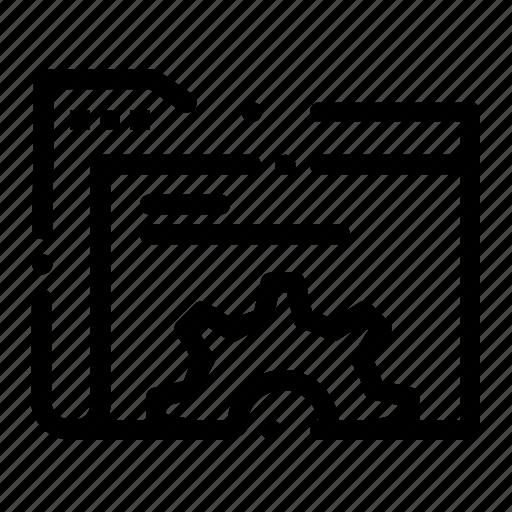 data, folder, gear, server icon