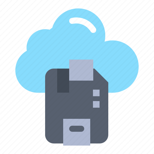 cloud, microchip, sd, server icon