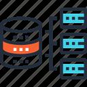 network, database, server, architecture, organization, data, structure