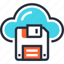 cloud, computing, data, internet, network, save, storage icon