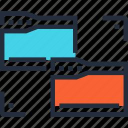 content, copy, data, file, folder, management, organization icon