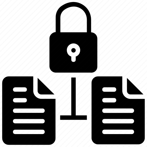 content protected, data protection, documents security, file protection, locked files icon