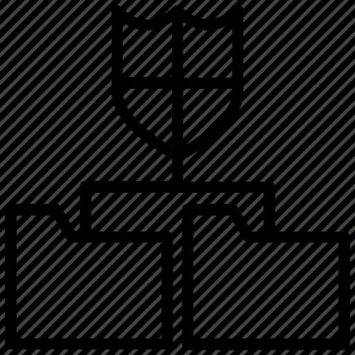 Folder safety, protected archives, safe folder, secured archive, shared folder icon - Download on Iconfinder