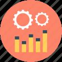cog, cogwheel, graph, graph settings, settings