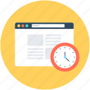 clock, speed test, web analyzer, website, website speed icon