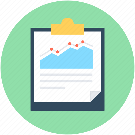 Analytics, clipboard, graph, graph report, stock report icon - Download on Iconfinder