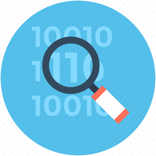 barcode, binary, binary code, data searching, search binary icon
