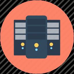 database, mainframe, network server, server, web hosting icon